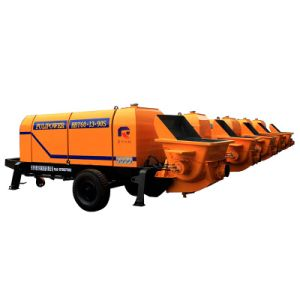 Pully Manufacture Hot Selling 110 Kw Electric Trailer Concrete Pump (HBT80.16.116S) pictures & photos