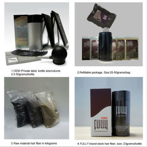 China Manufacturer Fully Hair Building Fiber pictures & photos