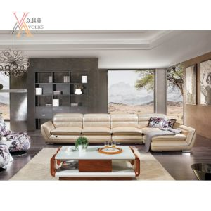 Leather Sofa with Corner (1239A)