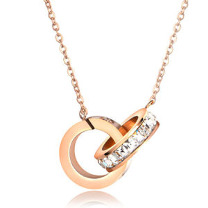 Factory Price Stainless Steel Women Jewelry Fashion Diamond Necklace pictures & photos
