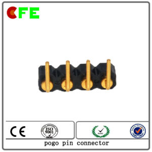 Customized 4pin Right Angle Spring Loaded Connector pictures & photos