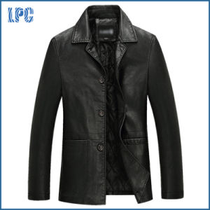 Wholesale Mens Leisure Fashion Leather Jacket pictures & photos