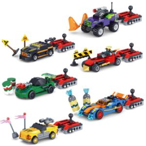 14886007-Building Bricks Blocks Crazy Speed Car Racing Car Block Building Blocks Christmas Gift pictures & photos