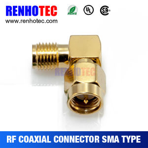 Right Angle Rpsma Male to Rpsma Famale Conector Adapter pictures & photos
