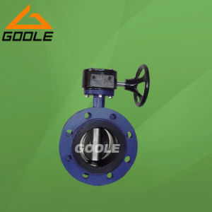 Worm Gear Box Operated Ductile Iron Flanged Soft Seal Butterfly Valve (GAD341X) pictures & photos