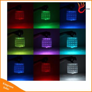 Collapsible 10 LED Diamond RGB Colorful Inflatable Solar Lantern Light Novel Solar Power Atmosphere Light for Party Garden Decorate pictures & photos