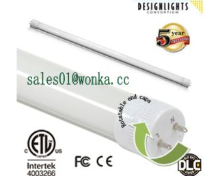 Dimmable Two Ends Rotatable LED T8 Tube Dlc High Lumin for Project pictures & photos