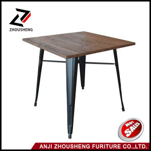 Vintage Industrial Metal Dining Table Cafe Table Restaurant Used Table Zs-Z-01W pictures & photos