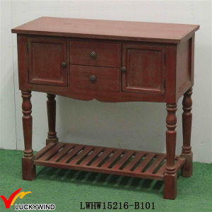 Antique Furniture Shabby Chic Retro Console Table with Shelf pictures & photos
