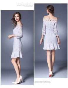 Wholesale Custom Slim Fit Lace Dress (A122) pictures & photos