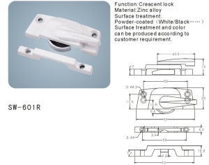 Crescent Lock for Window and Door (SW-601R) pictures & photos