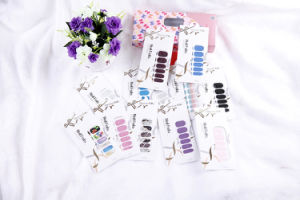 Fashionable Pink Temporary Water Transfer Nail Sticker Art Nail Sticker pictures & photos