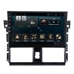Android 6.0 System Car Navigation GPS for Toyota Yaris L 10.1 Inch Touch Screen with Bluetooth/WiFi/TV