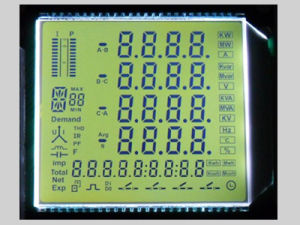 Custom Monochrome Segment Pin Connection Digital LCD Display pictures & photos