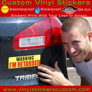 Warning Outdoor Custom Printing UV Resistant PVC Vinyl Car Bumper Stickers pictures & photos