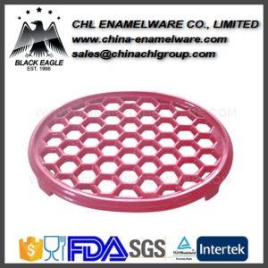 Heat Resistant Durable Colorful Cast Iron Enamel Trivets Holder pictures & photos