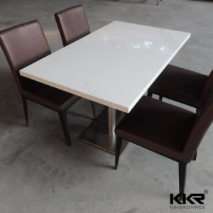 4 Seaters Artificial Stone Restaurant Dining Table and Chair (T1704204) pictures & photos