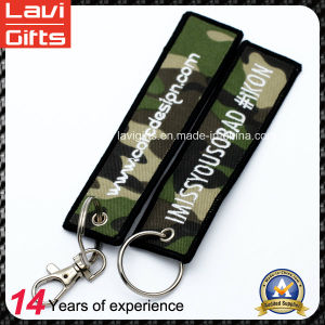 Custom Logo Embroidery Keychains with Keyring pictures & photos