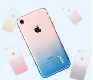 TPU Transparent Gradient Color Anti-Radiation Mobile Phone Case pictures & photos
