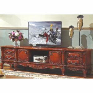 Wood TV Stand with Side Wine Cabinet for Home Furniture pictures & photos