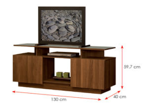 Modern MFC Laminated Wooden Cabinet TV Stands (HX-DR019) pictures & photos