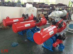 China Pneumatic Control Flanged Stainless Steel Ball Valve
