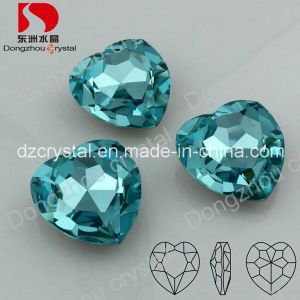 Crystal Heart Jewelry Accessories Point Back Loose Stone Pendant pictures & photos
