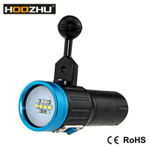 Hoozhu V13 Diving Photo Lights Five Colors LED Flashlight pictures & photos