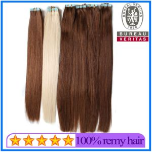 Good Quality 100% European Virgin Remy Tape Hair pictures & photos