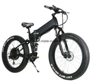 Mountain Full Suspension Electric Bicycle with 4.0 Tire pictures & photos