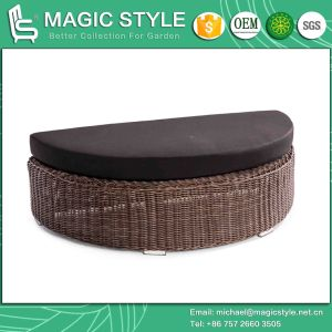 Wicker Daybed Rattan Sunbed Sun Bed Bench Daybed Leisure Daybed Double Sofa Balcony Daybed Deck Daybed Outdoor Furniture Patio Furniture (Magic Style) pictures & photos