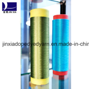 Dope Dyed Polyester Filament Yarn 120d/48f DTY pictures & photos