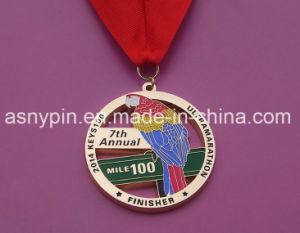 2014 New Custom Soft Enamel Eagle Logo Gold Medals Metal pictures & photos