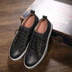 High Quality Hot Sale Men Sneaker Leather Flat Shoes (AKPX21) pictures & photos