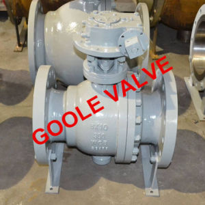 API6d Split Body Reduced Bore Cast Steel Flanged Trunnion Mounted Ball Valve (GAQ347F) pictures & photos