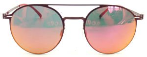 FM171248 New Design Good Quality Metal Sunglasses Round Shape Red Style pictures & photos