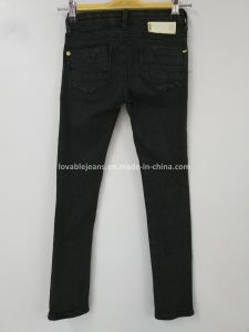 Black Skinny Fit Pants (121-G304) pictures & photos