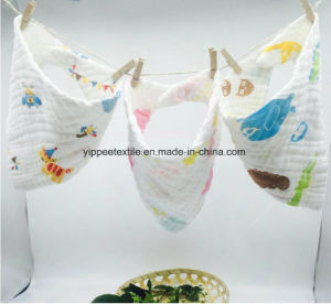 100% Cotton Muslin Triangle Snap Bib pictures & photos