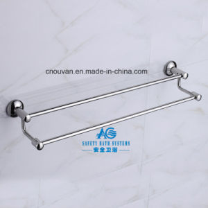 High Quality Bathroom Accessories Wall Mounted Chrome Double Towel Rail Bar pictures & photos