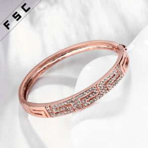 Vintage Rose Gold Plating New Style Rhinestone Charm Copper Bracelet pictures & photos