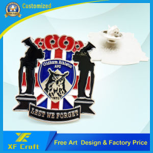 Professional Customized Each Type Metal Enamel Badge with Butterfly Clasp (XF-BG18) pictures & photos
