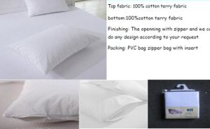 100% Cotton Terry Waterproof Pillow Protector pictures & photos