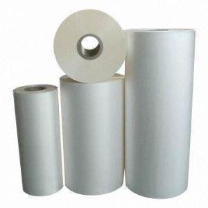 60mic Adhesive White BOPP Self Adhesive Film Sticker pictures & photos
