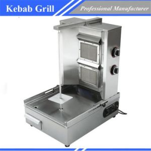 2 Burners Gas Shawarma Machine Kebab Making Machine Grill Chz-862 pictures & photos
