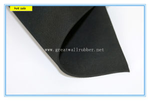 No-Woven Fabric on Surface Rubber Sheet pictures & photos