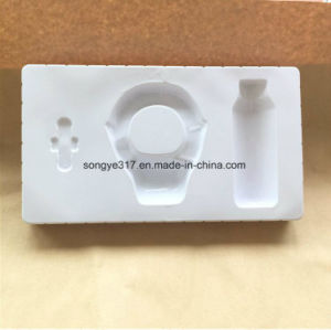 Flocking White Earphones Plastic Packaging Tray pictures & photos