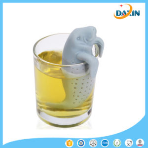 Food Grade Silicone Manatee Design Loose Tea Strainer pictures & photos