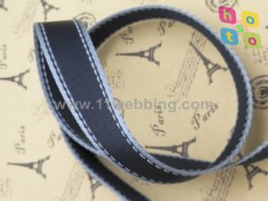 Black Striped Reflective Polyester Webbing for Pet Collar and Leash pictures & photos