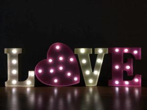 Battery Operated Wood Material LED Letter Night Light pictures & photos