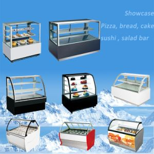 Professional Manufacturer of Showcase for Pizza, Bread, Cake, Sushi, Salad Bar pictures & photos